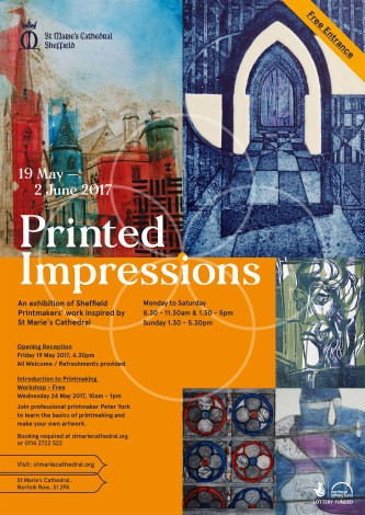 Sheffield Printmakers Printed Impressions Poster