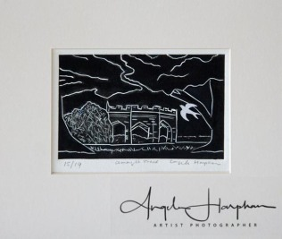 Under Trees - linocut