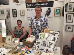 Rachel Collier-Wilson at the Freshly Pressed Print Fair, Barnsley 2017