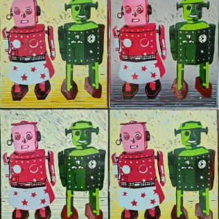 Robots linoprint