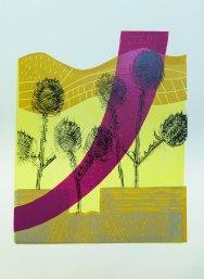 Teasels print 2017 - Linda Green