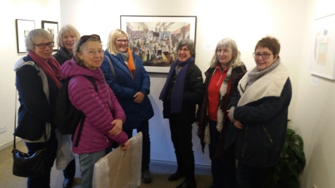 Shared practice visit to Zillah Bell Gallery Thirsk